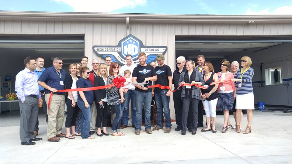 Ribbon Cutting with High Definition Detailing & Midland Area Chamber of Commerce